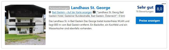 Bewertung booking.com
